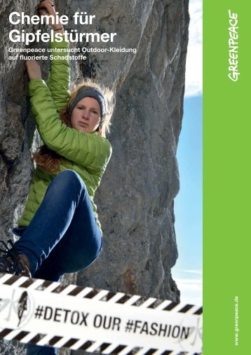 "Greenpeace Report ""Chemie für Gipfelstürmer"" - derStandard.at"