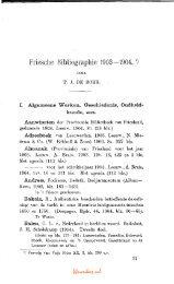 Friesche Bibliographie 1903-1904.*) - Tresoar