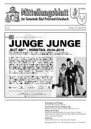 Mitteilungsblatt M 6930 - Bad Peterstal-Griesbach
