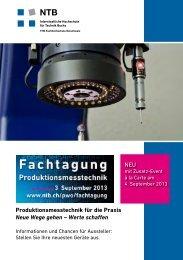 Produktionsmesstechnik für die Praxis Neue Wege gehen - ntb ...