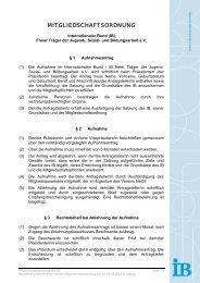 MITGLIEDSCHAFTSORDNUNG - Internationaler Bund