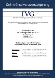 WOHN-STUDIO am Südring GmbH & Co. KG - IVG mbH & Co. KG