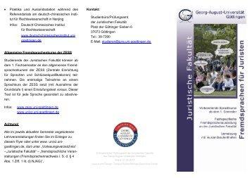 tut für Rechtswissenschaft in Nanjing I - Georg-August-Universität ...