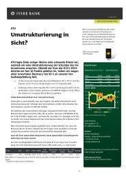 Umstrukturierung in Sicht? - Jyske Bank