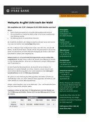Malaysia: Es gibt Licht nach der Wahl - Jyske Bank