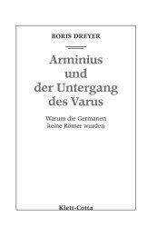 Arminius und der Untergang des Varus - Klett-Cotta