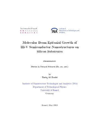 Molecular beam epitaxial growth of III-V semiconductor ... - KOBRA