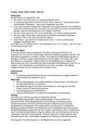 "Projekt ""Werk- Statt- Schule"" Bernau Zielgruppe Es geht ... - kobra.net"
