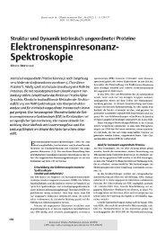 Elektronenspinresonanz-Spektroskopie : Struktur und ... - KOPS