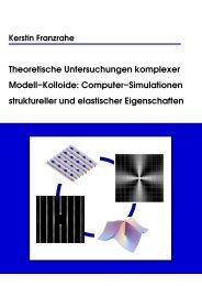 Computer-Simulationen struktureller und elastischer ... - KOPS