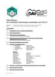 PROTOKOLL der ordentlichen Jahreshauptversammlung ... - Ringsee