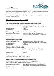 Auszubildende - Kreis Euskirchen