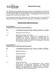 Text der Bekanntmachung - Kreis Euskirchen