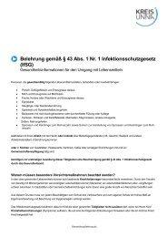 Einverständniserklärung für Erziehungsberechtigte von ... - Kreis Unna