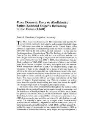 Reinhold Solger's Refraining of the Union (1860) - KU ScholarWorks