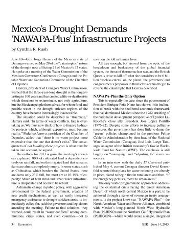 Mexico's Drought Demands 'NAWAPA-Plus' Infrastructure Projects