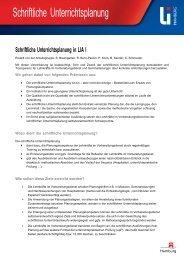 Schriftliche Unterrichtsplanung - Hamburg