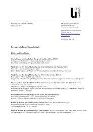 Literaturliste Sexualerziehung - Hamburg