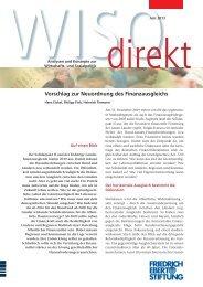 Vorschlag zur Neuordnung des Finanzausgleichs - Bibliothek der ...