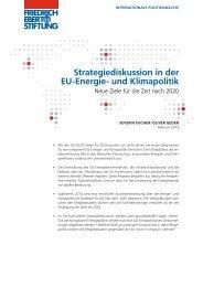 Strategiediskussion in der EU-Energie- und Klimapolitik : neue Ziele ...