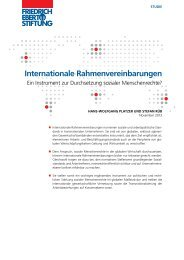 Internationale Rahmenvereinbarungen : ein Instrument zur ...