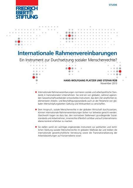 Internationale Rahmenvereinbarungen : ein Instrument zur ...