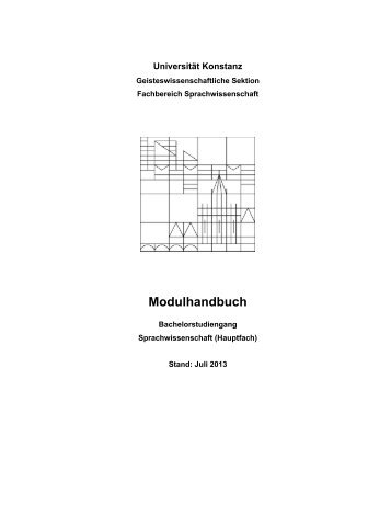 Modulhandbuch BA Sprachwissenschaft Hauptfach - Fachbereich ...