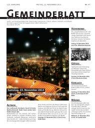 GBA2013 Woche 47 - Gemeinde Mäder