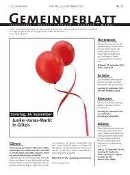GBM2013 Woche 37 - Gemeinde Mäder