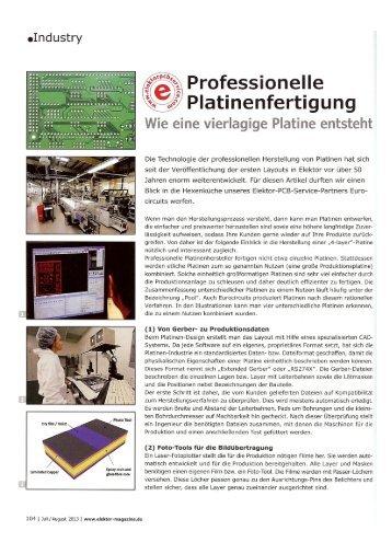 Professionelle Platinenfertigung - HTL Wien 10