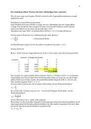 Das Sammlerproblem (Warten auf einen ... - mathekurs.ch