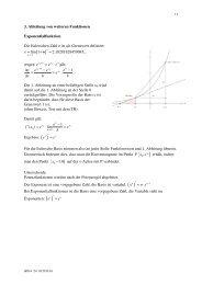1. Ableitung wichtiger Funktionen - mathekurs.ch