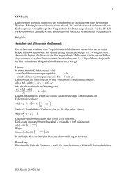 Beispiele für einfache Modelle - mathekurs.ch