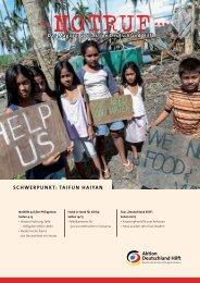 Taifun Haiyan - Aktion Deutschland Hilft