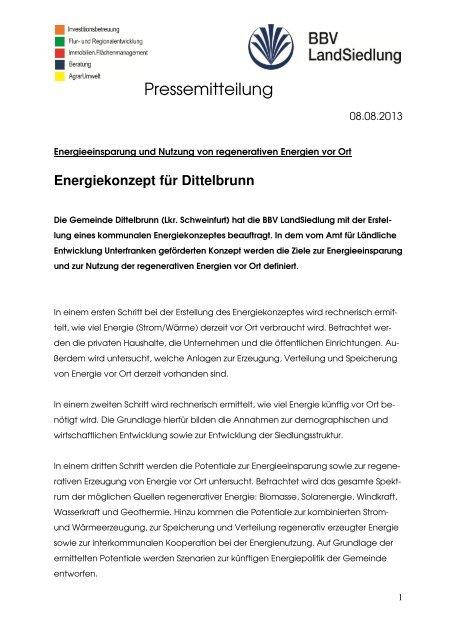 PM Energiekonzept Dittelbrunn