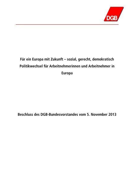 05112013 DGB-Beschluss Anforderungen an ... - Migration-online