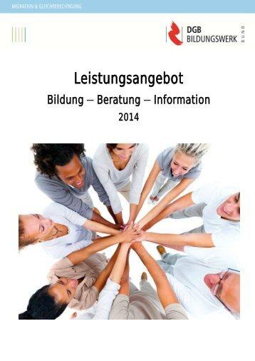 Unser Programm 2014 - Migration-online