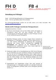 Anmeldung von Prüfungen - Fachbereich 4 - Fachhochschule ...