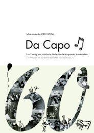 Da Capo 2013/14 - Musikschule der Landeshauptstadt Saarbrücken