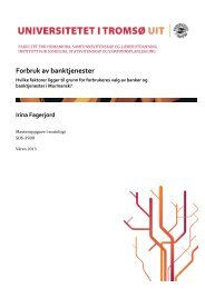 Forbruk av banktjenester - Munin - Universitetet i Tromsø