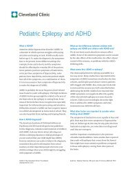 Pediatric Epilepsy and ADHD - Cleveland Clinic