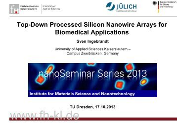 slides (pdf) - materials science and nanotechnology