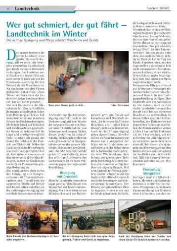 2013-48_Landtechnik im Winter.pdf - Dr. Neinhaus Verlag AG