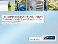 Qualitätssicherung bei ThyssenKrupp Rasselstein - neress.de