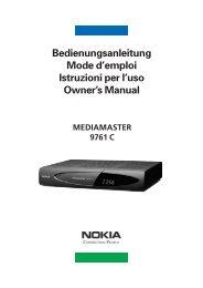 Bedienungsanleitung Mode d'emploi Istruzioni per l'uso ... - Nokia