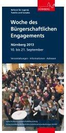 Programmheft Woche Be 2013 - Stadt Nürnberg