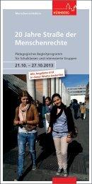 Programm zu 20 Jahre Straße der ... - Stadt Nürnberg