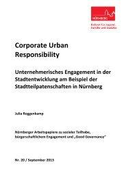 Corporate Urban Responsibility - Stadt Nürnberg
