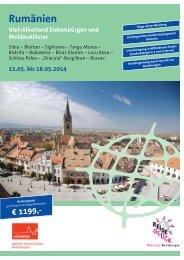 Bürgerreise Brasov/Kronstadt - Rumänien 2014 ... - Stadt Nürnberg