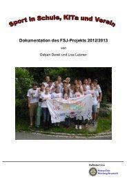 Projekt-Dokumentation Schuljahr 2012 / 2013 - Stadt Nürnberg
